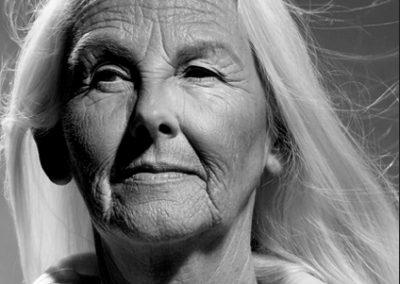Portraitfoto einer alten Frau